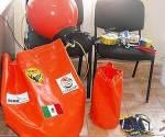 Personal del PNBL recibió material y capacitación para actuar en caso de que una ballena se enmalle en redes de pesca. (Villalobos). / El Sudcaliforniano