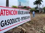 La instalación del gasoducto que se unirá con el proyecto de almacenamiento de GLP generó protestas ciudadanas.