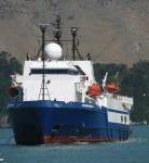 El barco petrolero Discoverer 2, cuyos recientes experimentos serían responsables de la muerte de muchas especies marinas